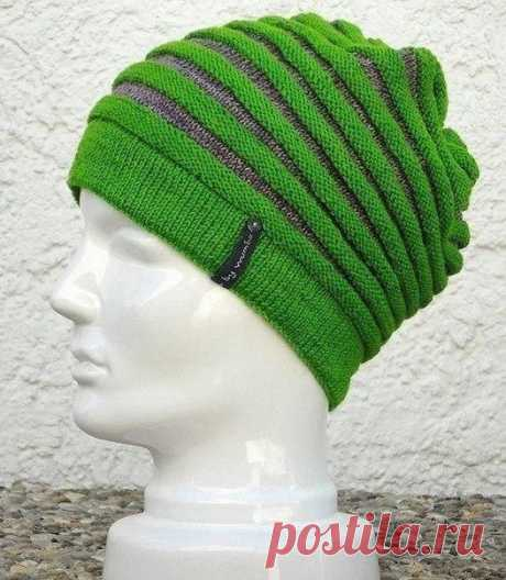 Задорная шапочка, вяжем спицами из категории Интересные идеи – Вязаные идеи, идеи для вязания