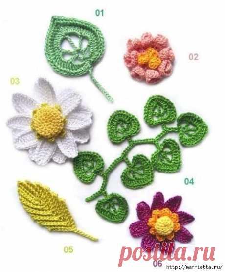 Вязание крючком: схемы восхитительных цветов