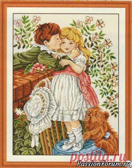 Детский поцелуй. Схема для вышивки. | Схемы вышивки крестом, вышивка крестиком ДЕТСКИЙ ПОЦЕЛУЙ. 1 1 1 1 11 1