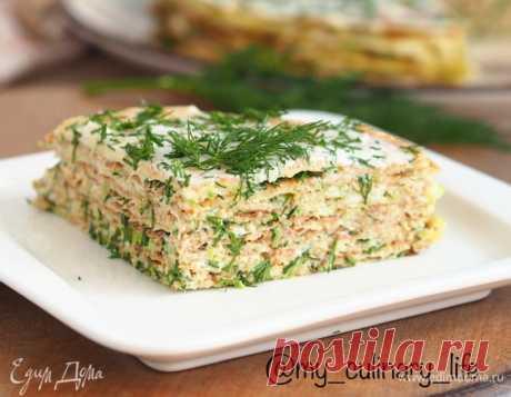 Закусочный торт из кабачков , пошаговый рецепт на 1291 ккал, фото, ингредиенты - Екатерина