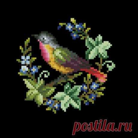 (6) Gallery.ru / Фото #1 - Птичка с незабудками - larisa20086311