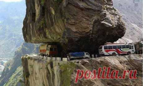 One of the most dangerous roads in the world, Himashal, India.