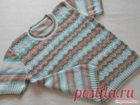 . A summer jacket from a yarn Alize Bella Batic - Knitting - the Country of Mothers