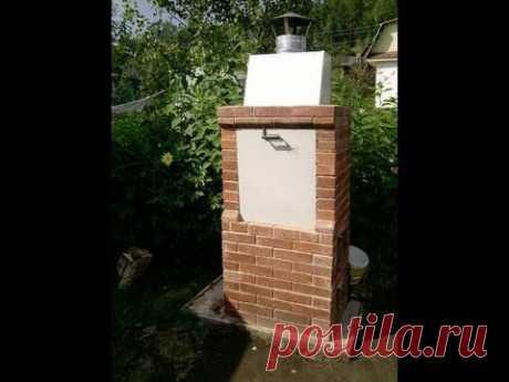 Многофункциональная и компактная уличная печь-мангал-коптильня из кирпича (Brick Street BBQ) - YouTube