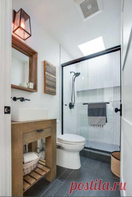 Свежие и практичные интерьерные идеи для квартир с совмещённым санузлом — Pro ремонт