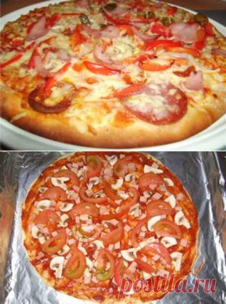 Быстрая пицца - рецепт с фотографиями