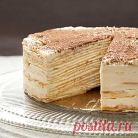 Торт «Крепвиль», самый вкусный в мире! СЪЕДАЕТСЯ ДО КРОШКИ Французский Крепвиль (crêpes – блины) – это не что иное, как блинный торт (дада, из настоящих блинов) с кремом, который, кстати, может быть совершенно разным: сметанным, заварным, творожным,...