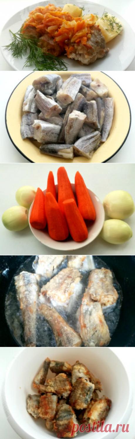 Минтай тушеный с морковью и луком   Вкусный день