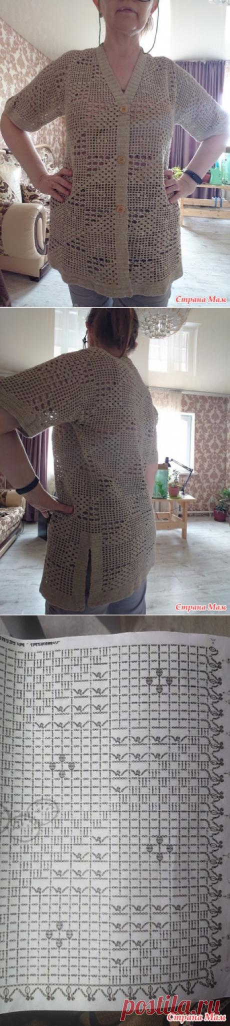 Жакет в стиле филейного вязания - Все в ажуре... (вязание крючком) - Страна Мам