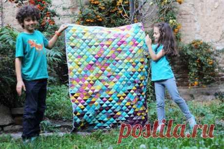 Одеяло из треугольников