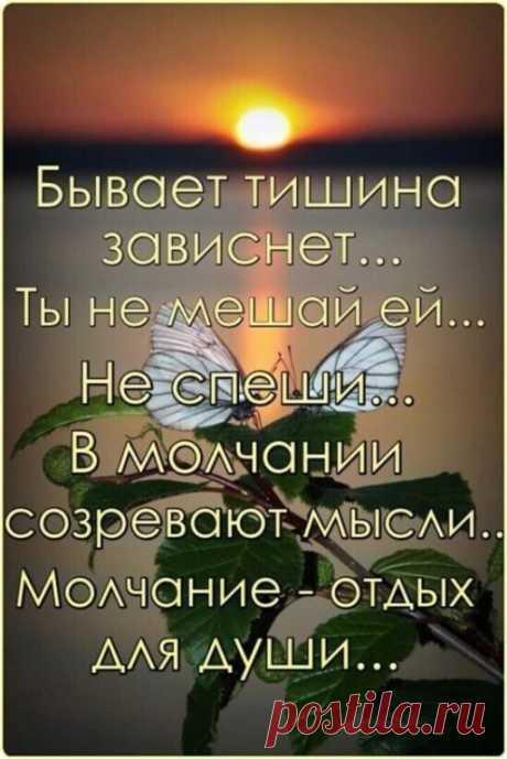 Бывает, тишина зависнет, Ты не мешай ей, не спеши. В молчании созревают мысли, Молчание — отдых для души…: 721 изображение найдено в Яндекс.Картинках