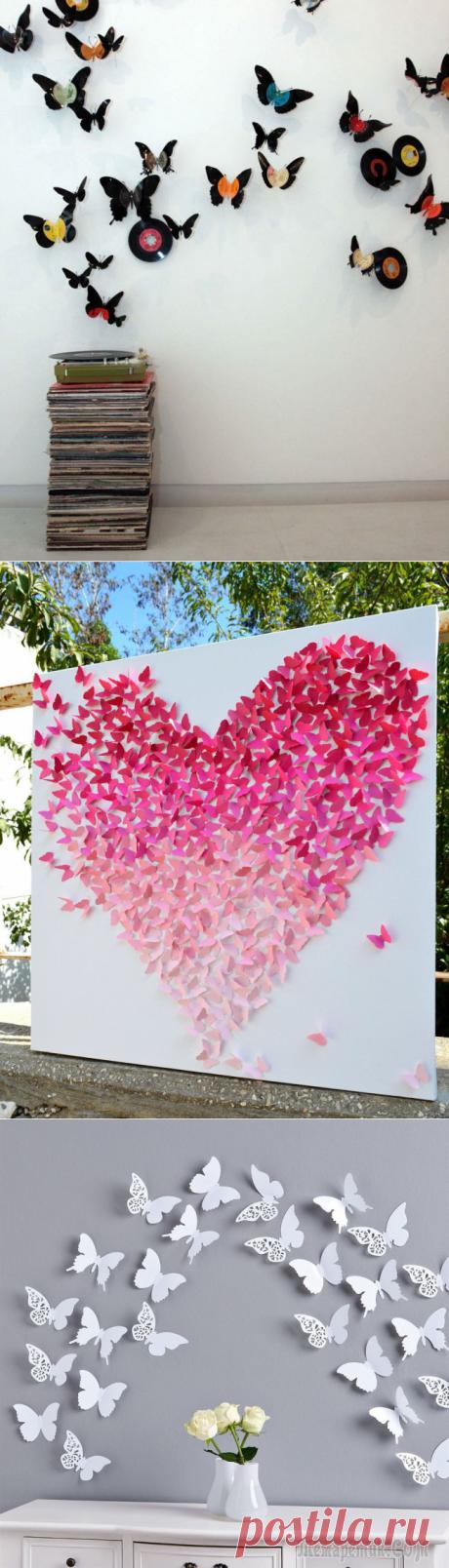 Бабочки на стене: вдохновляющие фотоидеи и мастер-класс по декору своими руками