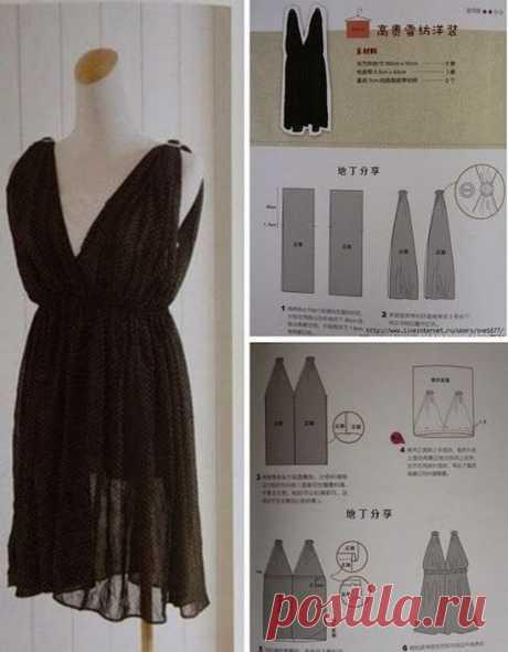 Быстро сшить платье своими руками без выкройки | LS