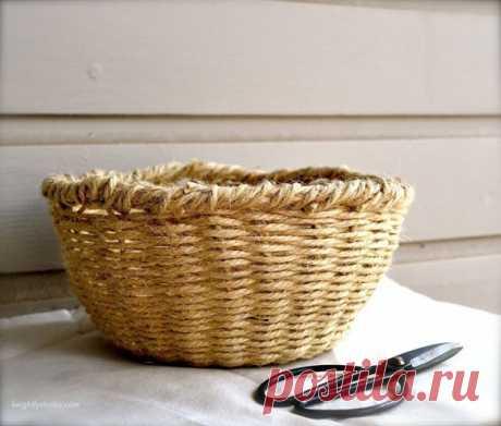 Плетённая корзинка
