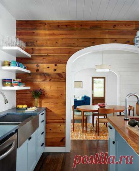 Как оформить стену и потолок с помощью ламината — Мой дом