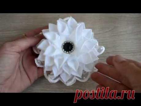 Цветы из лент 2.5cm/🌺 Очень легкий вариант/🌺 Ribbon Flowes/Tutorial/D.I.Y