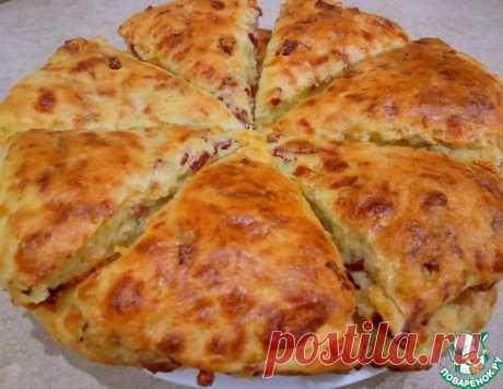 Сконы с сыром и колбасой – кулинарный рецепт