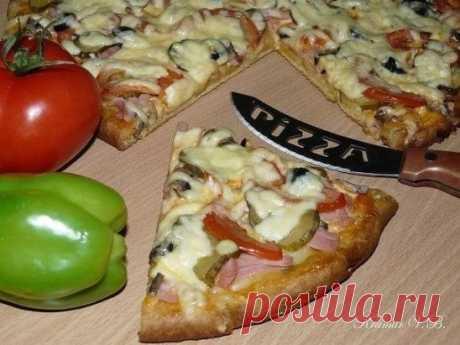 Как приготовить пицца на кефире сытная - рецепт, ингредиенты и фотографии
