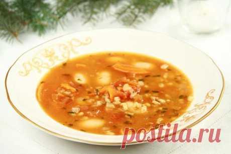 Суп грибной из сушеных грибов с перловкой и фасолью – пошаговый рецепт с фото.
