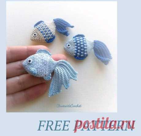 Бесплатный мастер класс по вязанию маленькой рыбки | Амигуруми | Яндекс Дзен