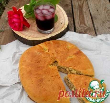 Мясной пирог с кабачками