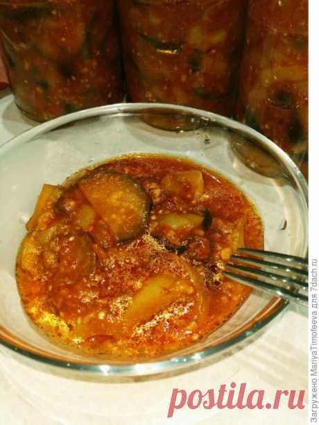 Соус из баклажанов и болгарского перца на зиму. Пошаговый рецепт с фото