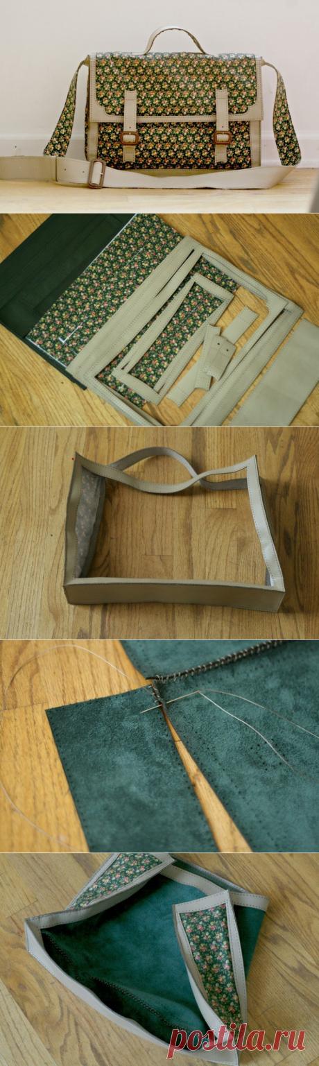 Сумка портфель (Diy+выкройка) / Сумки, клатчи, чемоданы / ВТОРАЯ УЛИЦА