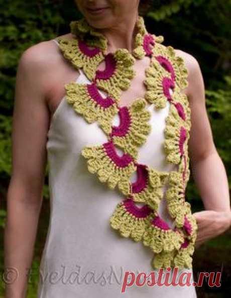 Crochet. Эффектный шарфик связанный крючком