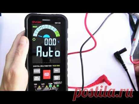Интеллектуальный цифровой мультиметр GVDA  GD128  Обзор и разборка современного прибора