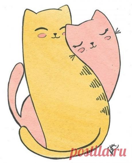 Картинки для срисовки с котиками (34 фото) ⭐ Забавник