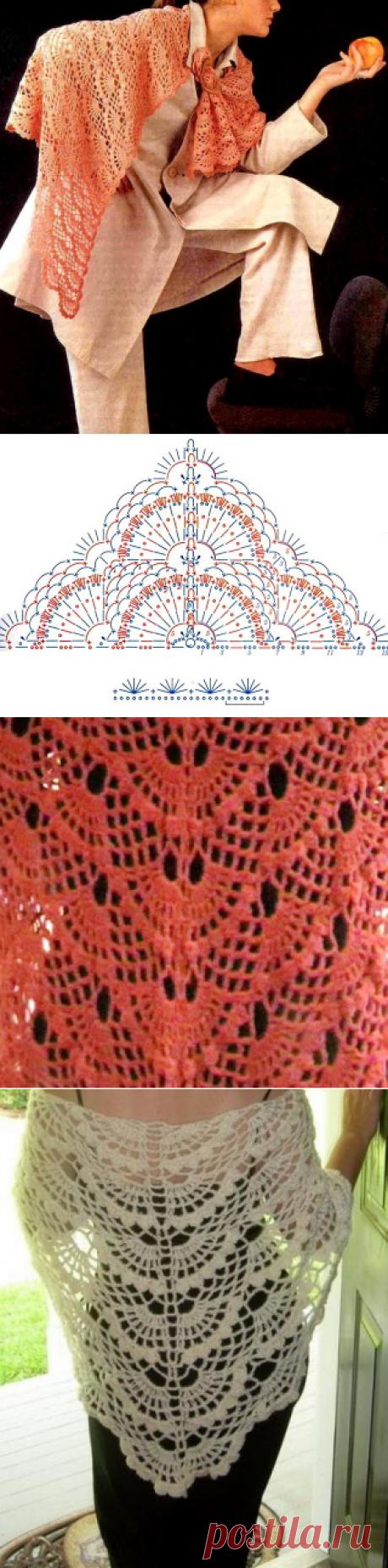 Crochet Shawls: Crochet Lace Shawl Pattern - Wonderful Women's Shawl