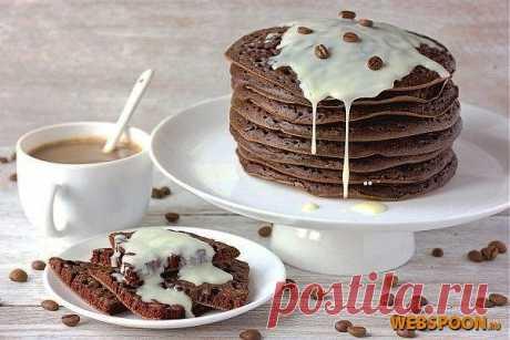 Chocolate and coffee pancakes