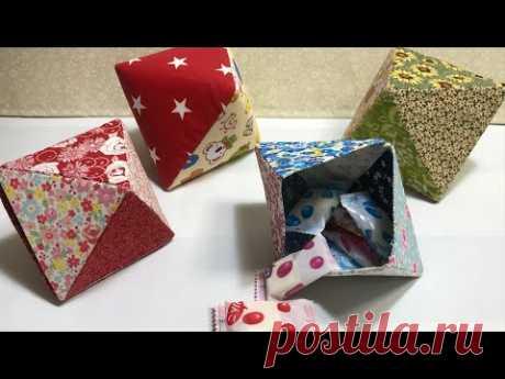 Подарочная коробка из треугольных деталей
