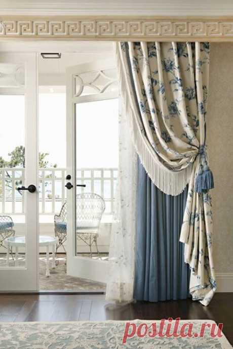Модные шторы в интерьере: 35 фото ~ ALL-DEKOR
