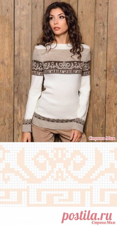 . Помогите, пожалуйста, найти схему жаккардового узора для пуловера - Вязание - Страна Мам