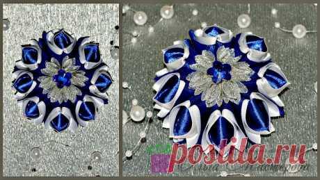 Нарядные резиночки из лент! Elegant bands of ribbon! - YouTube