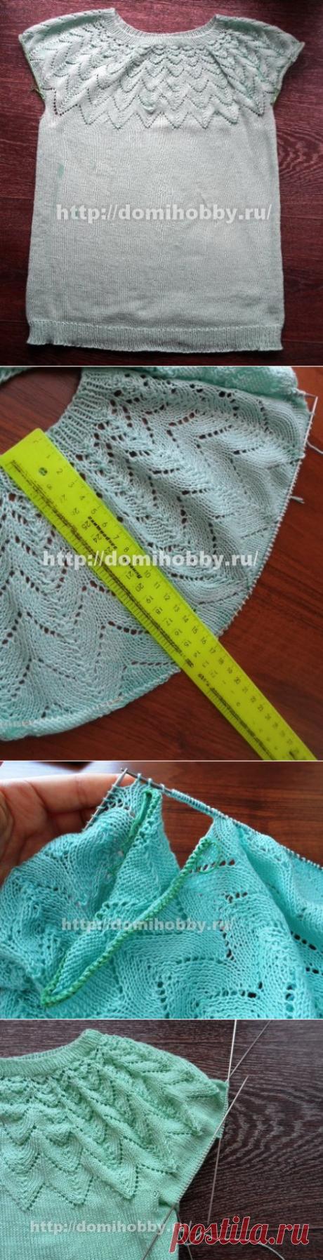 Вязание кофточки с круглой кокеткой