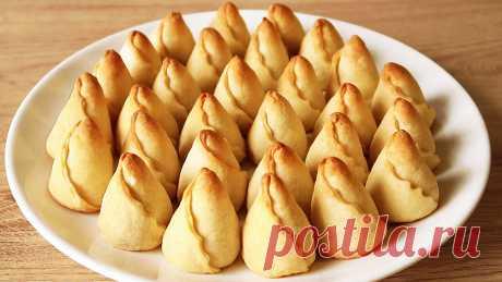 Печенье - в виде бутонов тюльпанов! Милая выпечка к чаю и празднику.   Кухня от Татьяны   Яндекс Дзен