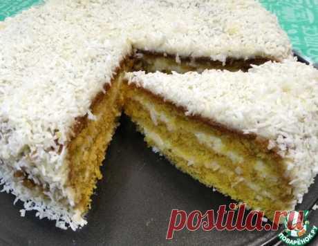 Торт кукурузный с кокосом – кулинарный рецепт
