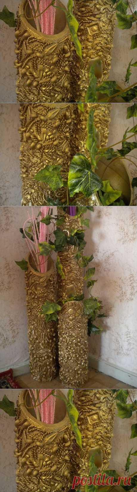 Идея изготовления напольных ваз.