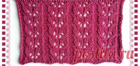 Красивый эффектный ажурный узор спицами для вязания свитеров, кардиганов, палантинов
