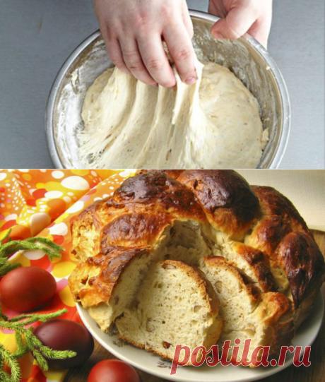 Богатое тесто для кулича из простых ингредиентов! Мякиш получается нежный, пористый, необычно воздушный!