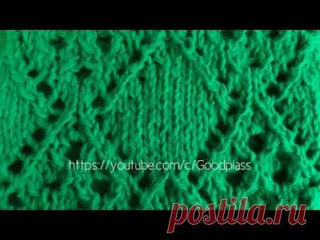 "Вязание спицами. Ажурный узор ""Затейлевый"".Knitting(Hobby)."
