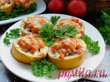Кабачки кольцами в духовке: с мясным фаршем, сыром, помидорами