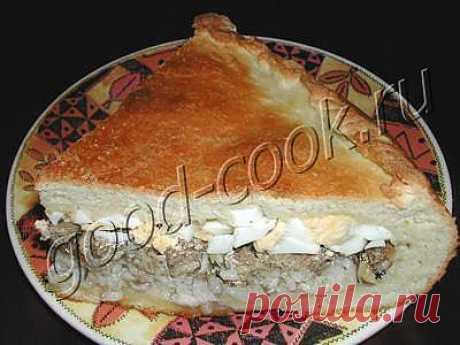 Хорошая кухня - пирог со шпротами. Кулинарная книга рецептов. Салаты, выпечка.