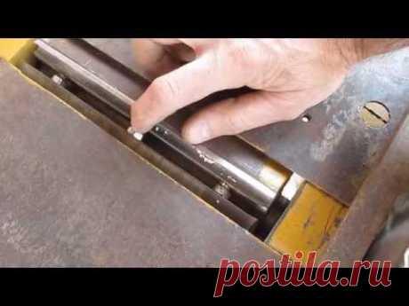 Как быстро и правильно установить ножи на фуговальный станок.