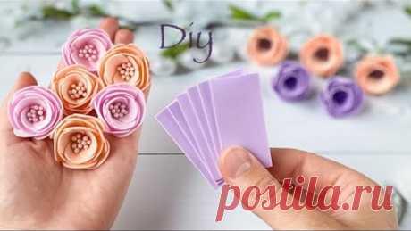 Цветы из фоамирана Без шаблона How To Make Flowers / Eva Foam Paper/ Flores de foamy