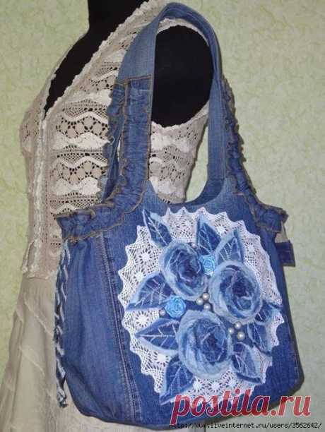 JEANS BAGS. IDEAS AND PATTERNS