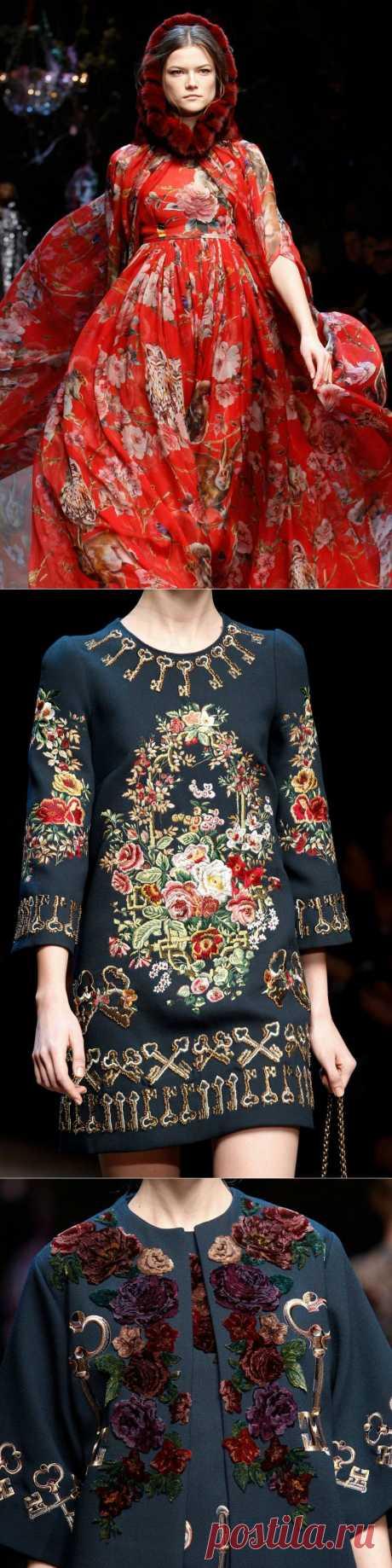 Супервдохновляющие идеи для модниц рукодельниц от Dolce & Gabbana | Мода