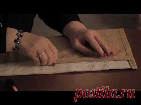 Сшить Шторы Своими Руками. Урок 2 - Складки На Шторе - YouTube